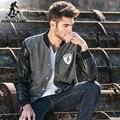 Pioneer Camp новая Весна куртка мужчины бренд clothing мода пальто мужской Кожаный пиджак бейсбол мужчины куртку для мужчин 622022