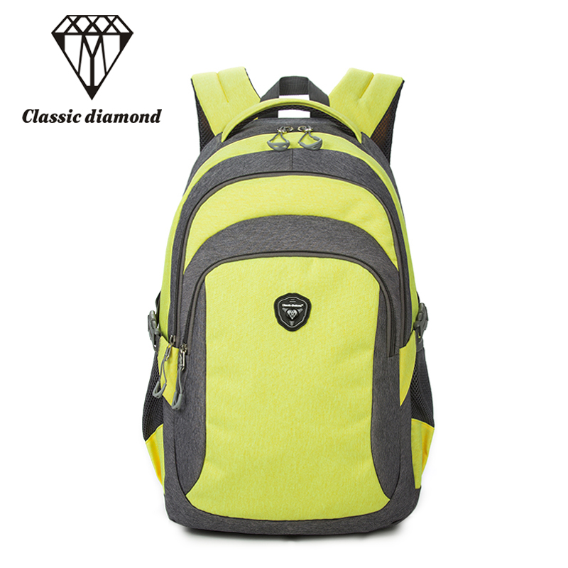 Classic Diamonds Brand Travel Backpack For Teenager Girls School Bags Women Waterproof Nylon Backpacks Men 15.6 inch Laptop bags backpack women school bags brand backpacks women high quality large capacity teenager backpacks for teenage girls student bags