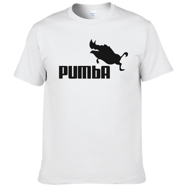 2016 funny tee cute t shirts homme Pumba men short sleeves cotton tops cool tshirt summer jersey costume t-shirt #062 1