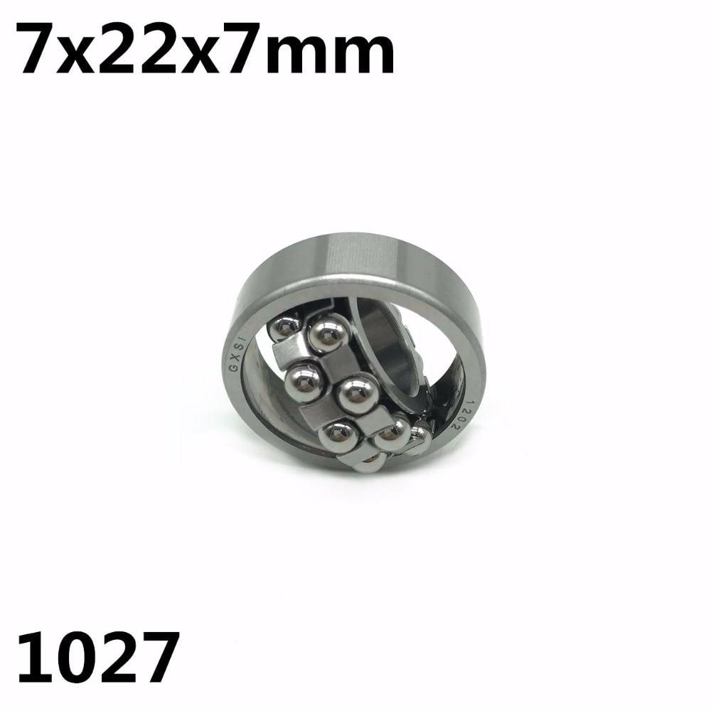 1pcs 1027 7x22x7 mm Double Row Self-aligning ball bearing High quality