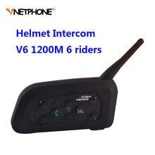c470ef6364b Vnetphone V6 Motorcycle Bluetooth 1200M Helmet Intercom Full Duplex for 6  riders BT Wireless motocicleta Interphone Headsets