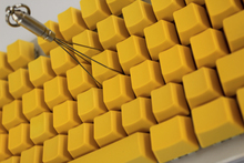 108/87 Keys Thicken PBT Yellow Blank Keycap High Wear Resistance OEM Profile Keycaps For Cherry MX Switches Mechanical Keyboard