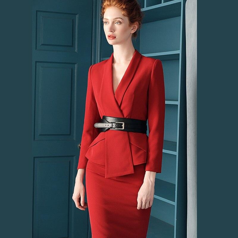 Dress Suits Women Luxury Runway Designer High Quality Blazer Jacket Coat Elegant Office Lady Autumn Winter 2 Piece Sets Suits