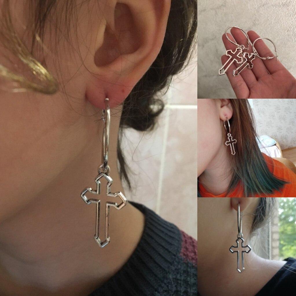 Fashion Femmes Argent Or Géométrique Ear Stud Drop Dangle Boucles D/'oreilles Rétro Bijoux