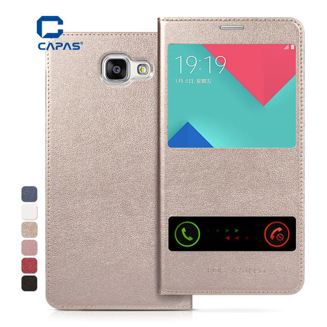 huge discount 945fc 5f7d1 US $6.99  CAPASAE Flip Cover for Samsung Galaxy A9 Pro 2016 A9100 Case Dual  View Window Cover for Galaxy A9 Pro 2016 Case Protective Shell on ...