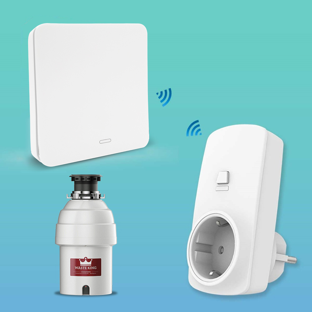 food-waste-disposers-garbage-disposal-wireless-switch-remote-control-eu-plug-16a-for-1hp-no-drilling-no-pipe-replace-air-switch