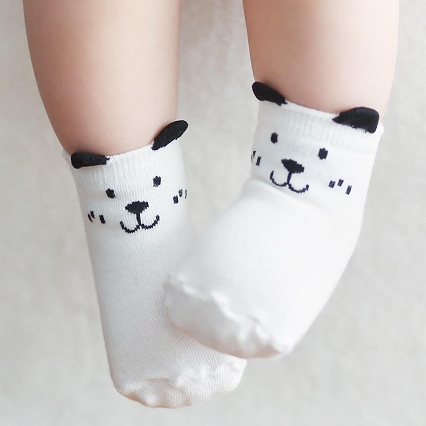 Cartoon Cute Ears Animal Dog Owl Kid Infant Socks Cotton Anti Slip