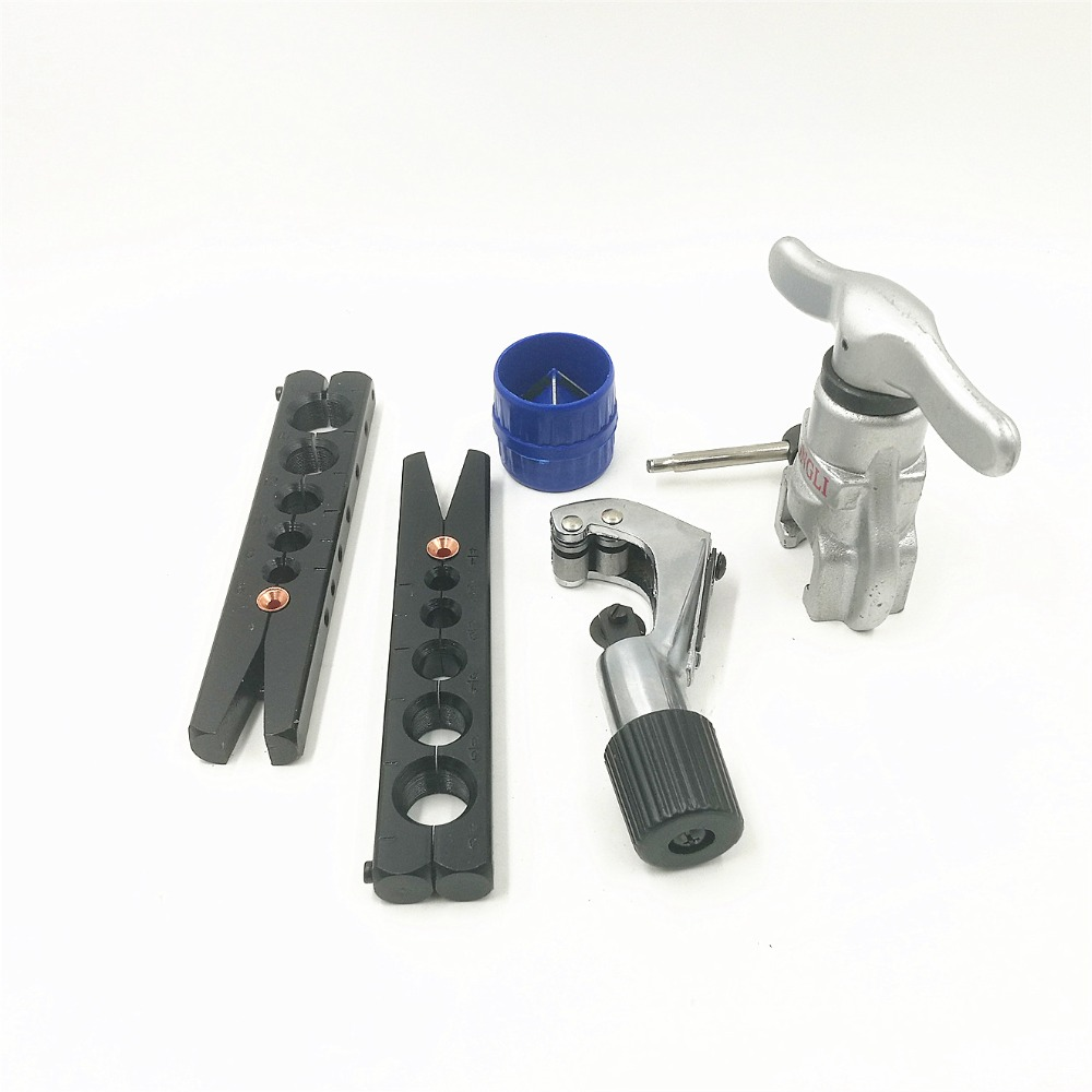 Tube Expander Kit 6-19MM Air Conditioner Copper Pipe Reamer Tube Fitting Expanding Tool CT-808F