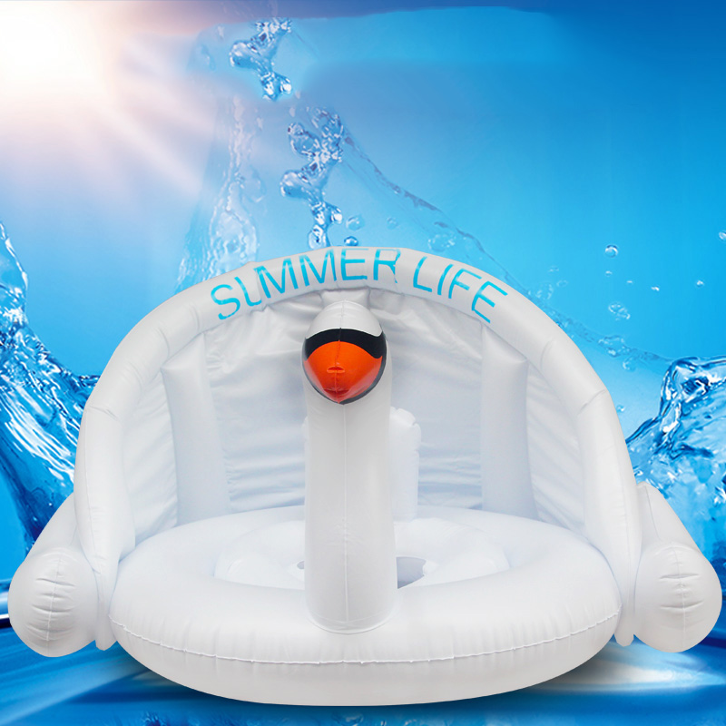 0 3 Years Old Baby Inflatable Flamingo Swan Pool Float 2018 Ride On Sunshade Seat Swimming Ring Water Party Toys Infant Circle in Pool Rafts Inflatable Ride ons from Toys Hobbies