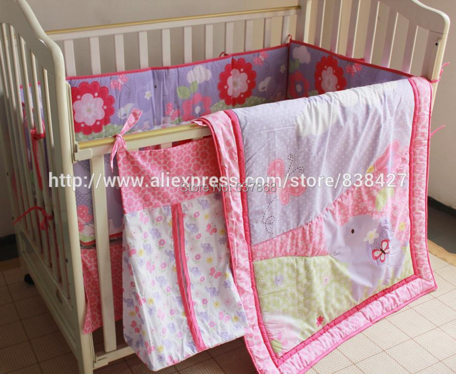 Baby Bedding Mother & Kids Ups Free Set Bed Linen Baby Ropa De Cama Infantil Quilt Sheet Bumper Bed Skirt Included Last Style
