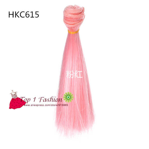 1 adet saç 15 cm parlaklık renk isıya dayanıklı düz bebek saç 1/3 1/4 1/6 BJD bebek diy aksesuar