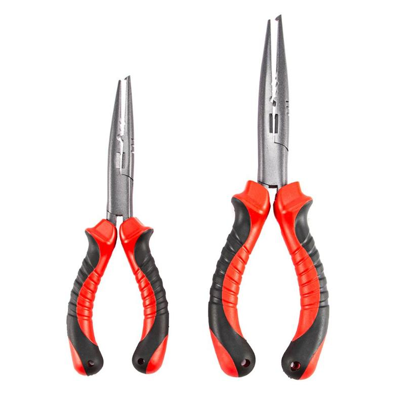 Stainless Steel Fishing Pliers Sea Fishing Scissors Braid Swivel Snap Hook Tools Anti-rust Split Ring Cutters