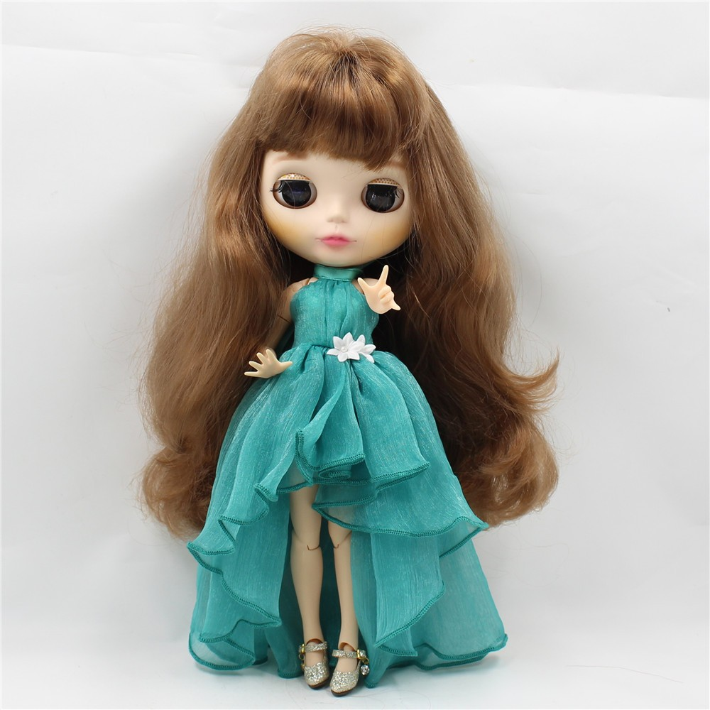 Neo Blythe Doll Chiffon Dress with Flower 2