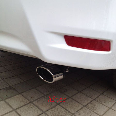 Prix pour Livraison gratuite pour Toyota COROLLA 2014 d'échappement en acier inoxydable tuyau queue tuyau silencieux accessoires automobiles 1 pcs