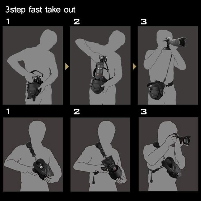 Selens SE-01CH DSLR caméra sac housse de protection bande réglable pour DSLR reflex Canon nikon DSLR D90 D750 D5600 D5300 D5100 - 3