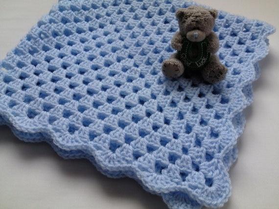 Crochet Baby Blanket, Afghan, Nursery Bedding Christening