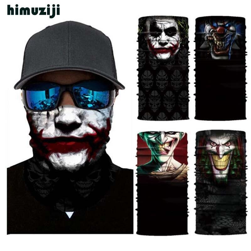 3D Funny Terror Clown Skull Magic Cycling Mask Neck Warmer F…