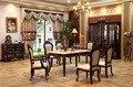 Mobiliário mesa de jantar sala de jantar antigo conjunto de compra do grupo casa móveis de madeira maciça mesa de jantar e cadeiras de preços por atacado