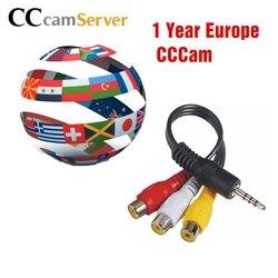 1 jahr CCcams Europa Karte Server Mgcam Oscam für VU + Samsat Starsat Satellite TV Empfänger über usb wifi