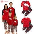 Высокое качество мужчины женщины дети рождество семья соответствия снаряжение пижамы набор олень пижамы пижамы пижамы отдыха костюм