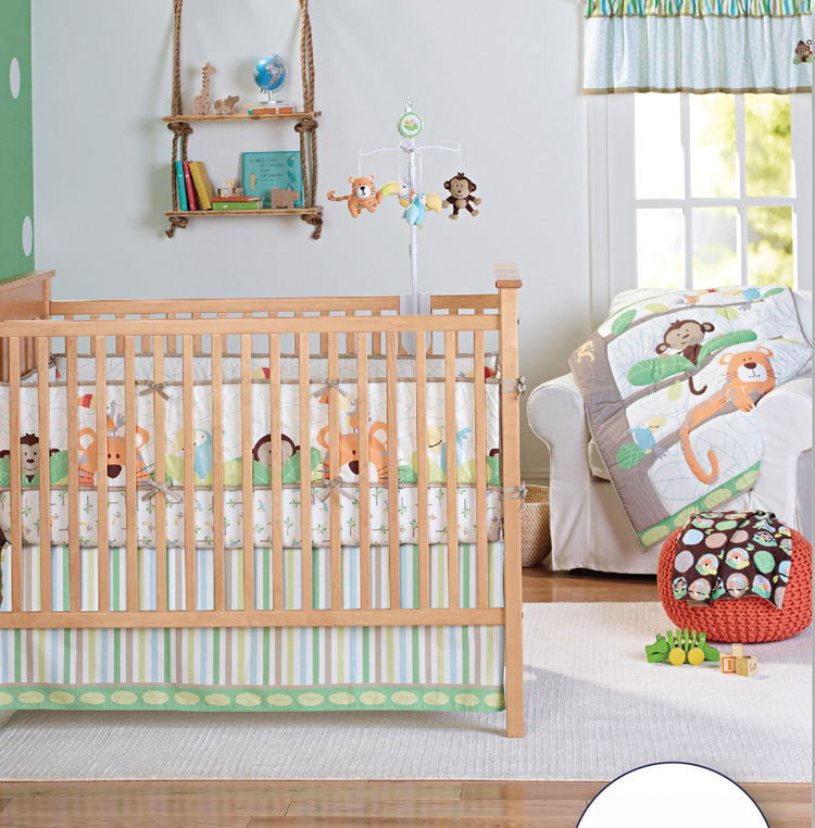Reasonable 7 Pieces Lovely Baby Cot Bedding Set 3d Africa Lion Crib Bedding Cot Sheets Cuna Baby Crib Bumper Sets Unisex Quality First Baby Bedding Mother & Kids