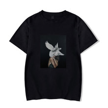 White Dove Wings Girl T-shirt Summer Aesthetic Vogue Black T-Shirt Lady Cotton Soft O-Neck Casual Tops Hipster Unisex Tees(China)