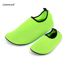 Children snorkeling shoes summer skin care diving beach socks boys swimming breathable for girls mesh big size