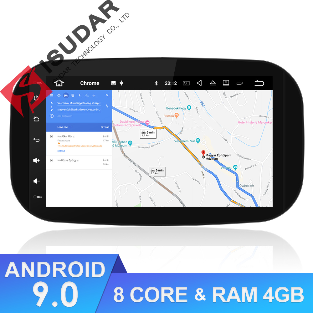 9 Isudar 2 Reprodutor multimídia Carro Din Android Para Mercedes/Benz/SMART 2016 CANBUS GPS Auto Rádio DSP octa Núcleo RAM 4 GB USB DVR