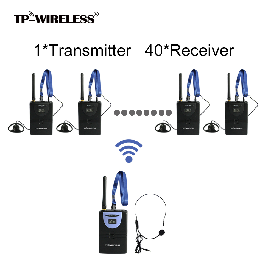 TP-WIRELESS Tour Guide System Wireless Translation System for Audio Tour Guide Teach Church Visit 1 transmitter + 40 Receivers 2 receivers 60 buzzers wireless restaurant buzzer caller table call calling button waiter pager system