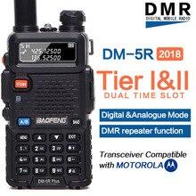 2020 Baofeng DM 5R plus Digital Walkie Talkie Tier1 Tier2 DMR Tier II Dual slot de tempo Digital/Analógico VHF/UHF rádio Em Dois sentidos