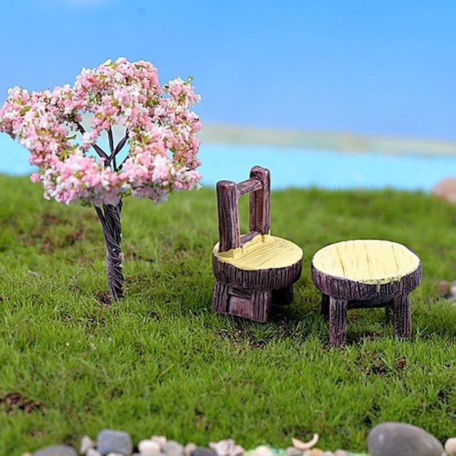 Etonnant 1 Set Desk Chair DIY Resin Fairy Garden Craft Decoration Miniature Micro  Gnome Home Garden Decoration