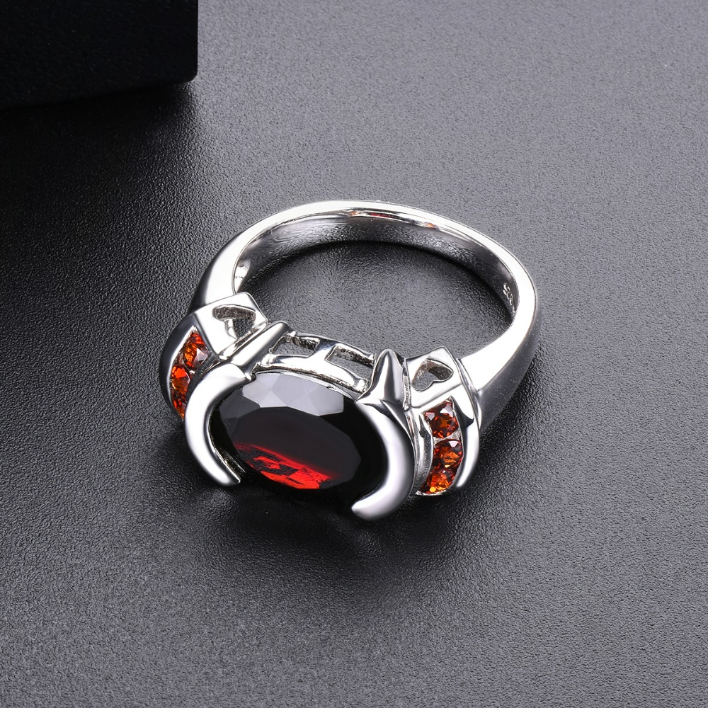 Hutang Garnet Wedding Ring 5.34ct Natural Gemstone Solid 925 Sterling Silver Fine Fashion Stone Jewelry Women Man Best Gift New-in Rings from Jewelry & Accessories    2