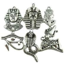 Винтажный кулон в виде египетского фараона змеи кобры охранника
