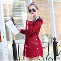 women jacket  New ladies fashion hooded windbreaker long waist all-match Jacket Free Shipping
