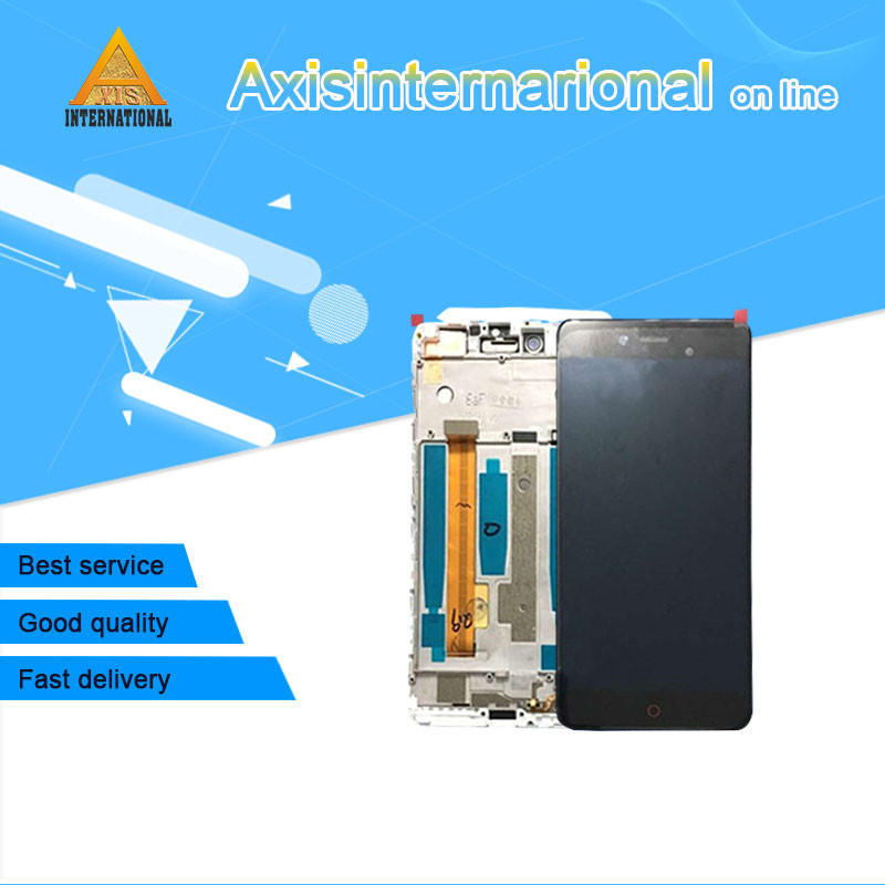 For 5.2'' ZTE Nubia Z11 mini S NX549J Axisinternational LCD screen display+touch digitizer with frame white/black free shipping