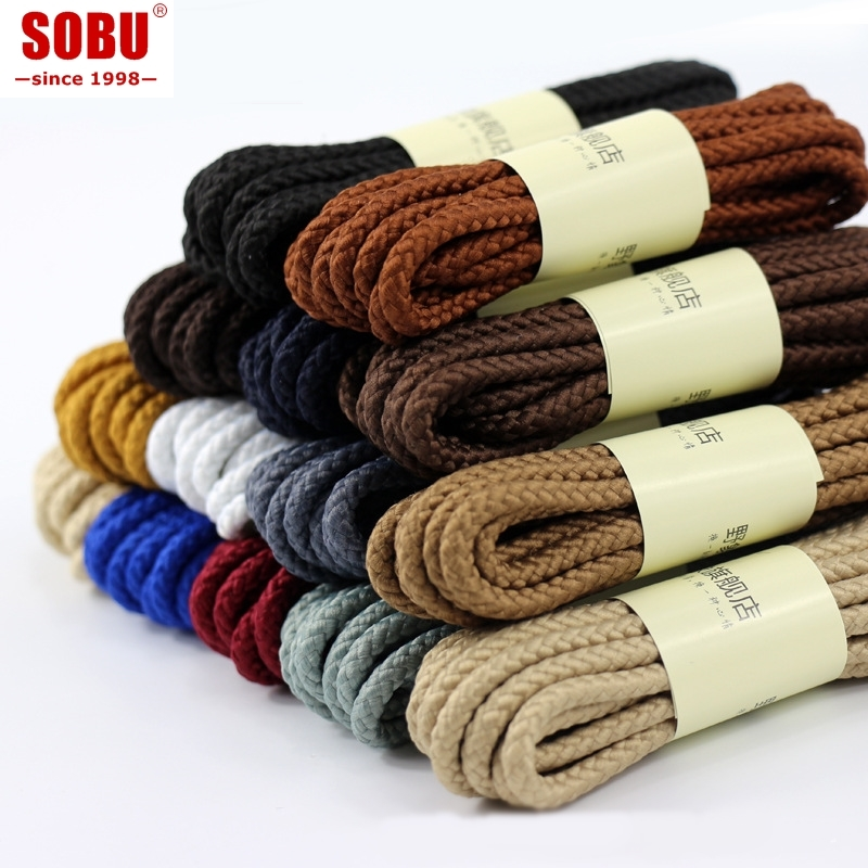 A Pair 90cm 120cm 150cm Of Classic Top Quality Polyester Solid Classic Round Shoelaces Martin Boot Shoelace