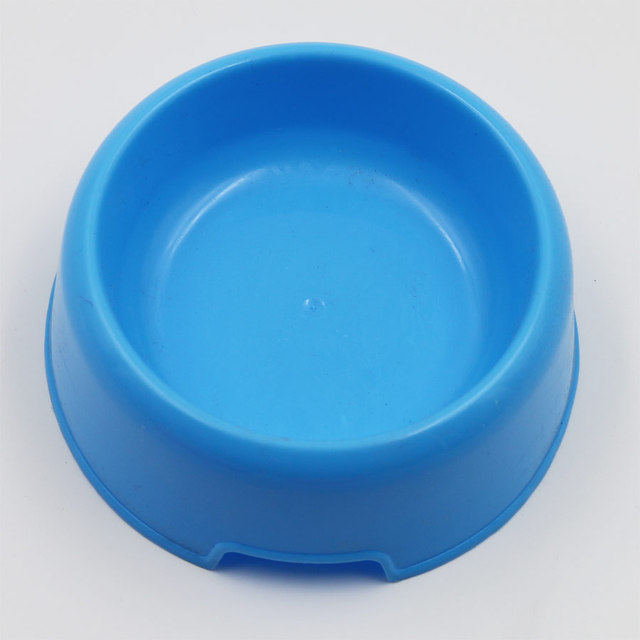 Hot Sale Plastic Cat Dog Feeding Bowl Durable Water Cat Dish Feeder Pet Bowl Candy Color Travel Feeding Bowl Food Bowl