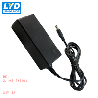 24V/4A 5.5mm*2.1mm AC DC Power Adapter For Electrical Equipment Switching Adapter Black Switching For LED Strip Light
