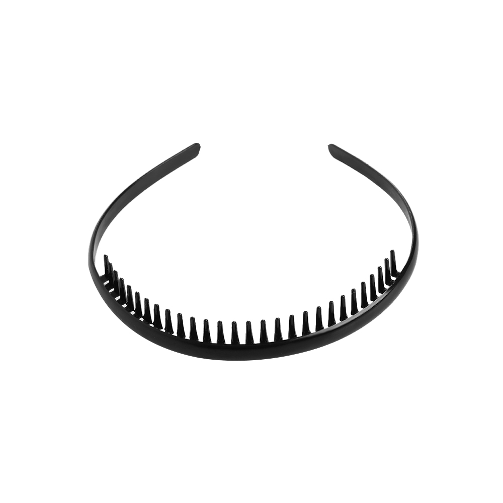 e9bf9d09964 1PC Men s Fashion Black Metal Toothed Headband Sports Hairband Football  Soccer Headband Alice Hair Band Headwear Accessories-in Headbands from  Apparel ...