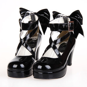 Image 4 - 2019 yeni Puella Magi Madoka Magica Cosplay ayakkabı japon tarzı Anime Lolita yüksek topuklu ayakkabı kadınlar için w/ilmek