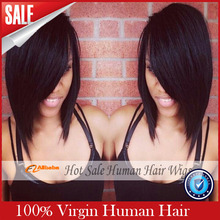 2016 Time-limited Promotion 130% Small Lace Wigs 8a Full Lace Human Hair Wigs For Black Women Brazilian Wig Front Bob U Part