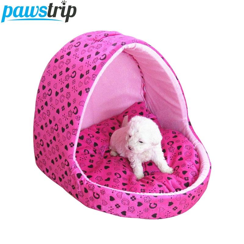 Simpatična roza hiška za pse Princess za majhne pse, odporna proti - Izdelki za hišne ljubljenčke
