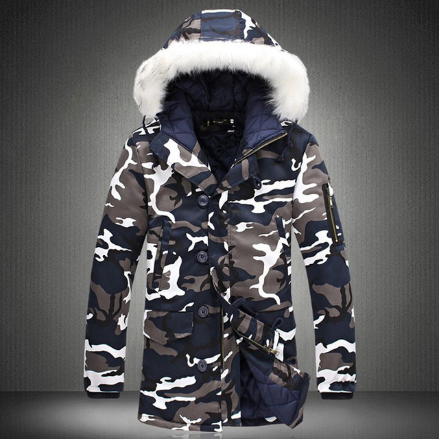 Big Promo 2018 New Winter Jacket Men Camouflage Casual Thick Warm Jacket Men 'S Parka Coat Male Fashion Hooded Parkas M -4xl Plus Size