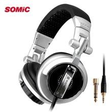 Somic ST-80การตรวจสอบมืออาชีพเพลงไฮไฟหูฟังพับชุดหูฟังดีเจโดยไม่ต้องไมค์เบสเสียงรบกวนเสียงสเตอริโอแยกหูฟัง