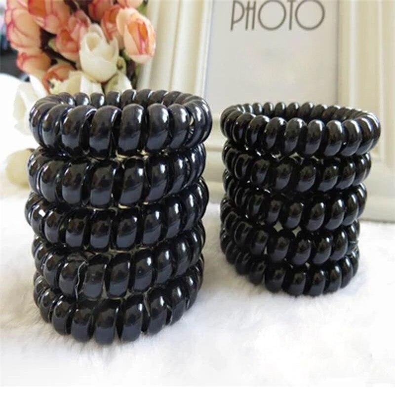 10pcs/lot Elastic Hair Bands Girls Hair Accessories Rubber Band   Headwear   Hair Rope Spiral Shape Hair Ties Gum Telephone Wire