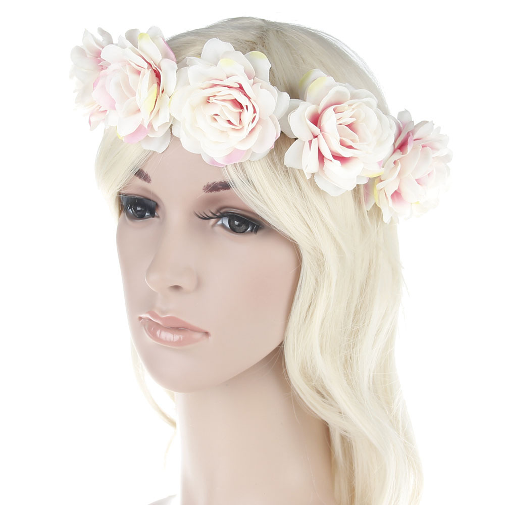 Bridal Flower Crown Flower Headband Women Wedding Beach Garlands ...