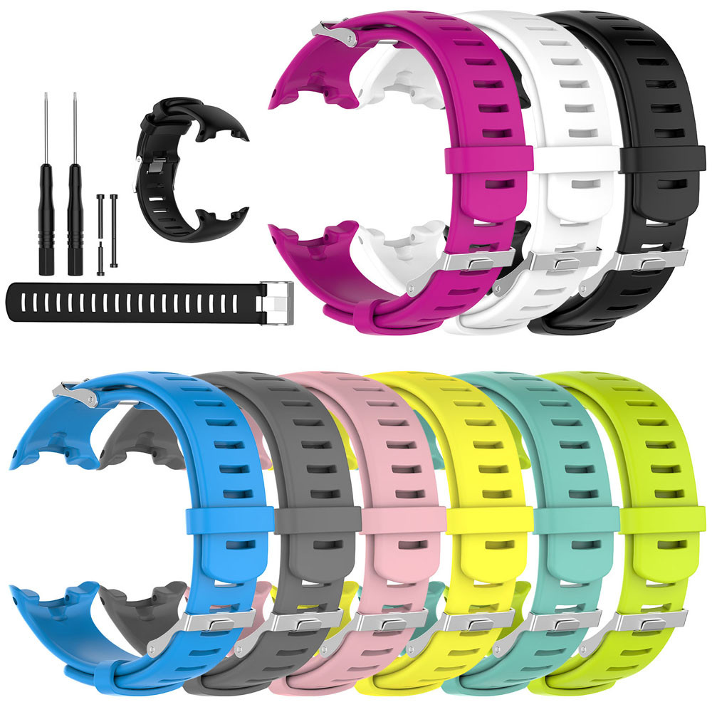 HIPERDEAL Watch Strap Rubber Novo Replacement Soft-Band Silicone 22MM for D4/d4i 15J title=