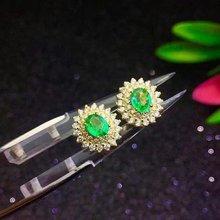 SHILOVEM 925 sterling silver Natural Emerald classic fine Jewelry Customizable women wedding  wholesale new le040501agml