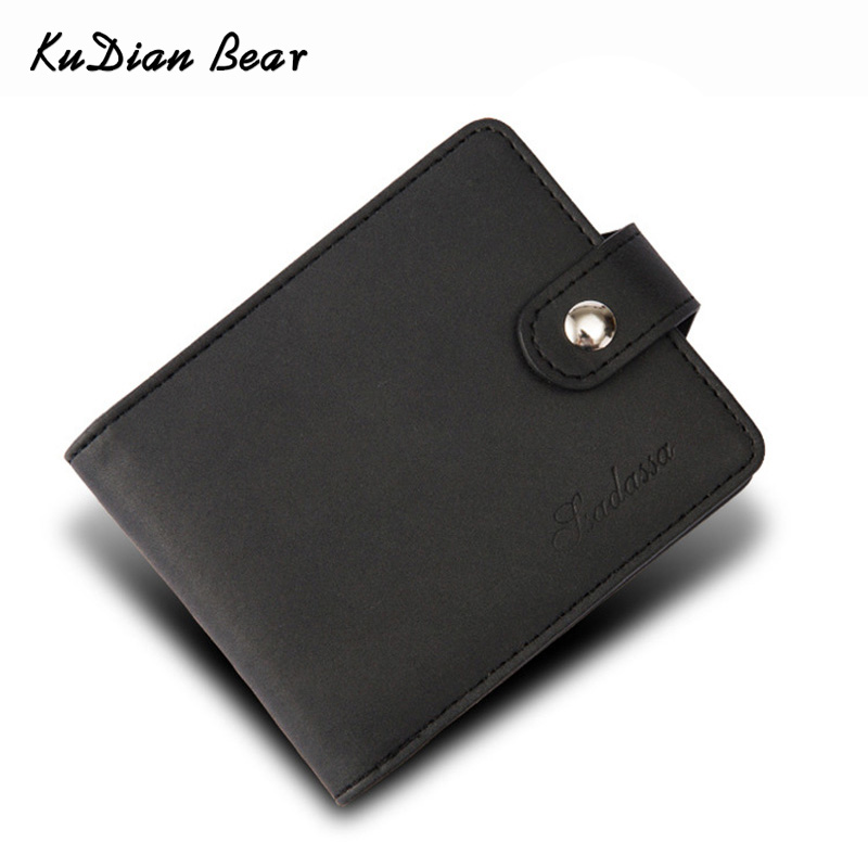 KUDIAN BEAR Minimalist Men Wallet Vintage Leather Portfolio Wallet and Purse for Male Slim Clamps Carteira Masculina BID239 PM49
