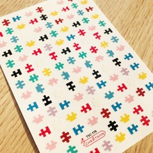 TSC series Tsc-179 Puzzle  3d nail art stickers decal cheetsan brand template diy tool decorations